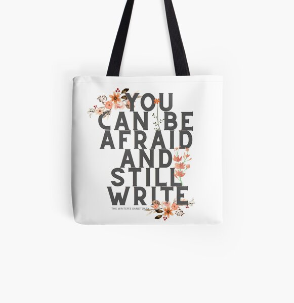 Write Brave All Over Print Tote Bag