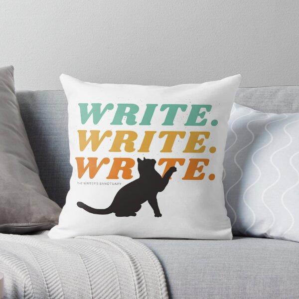 Writer Cats Unite! Throw Pillow