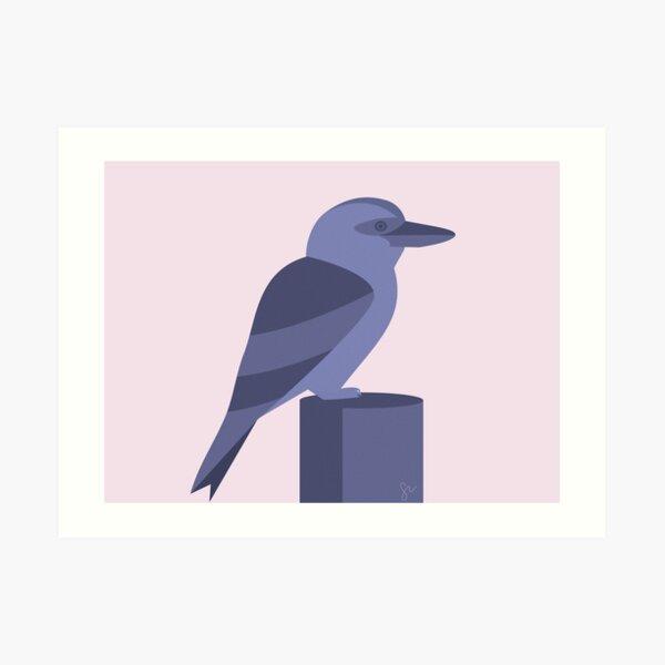 Minimalist Kookaburra Art Print