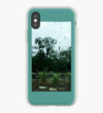 Rain on window iPhone Case