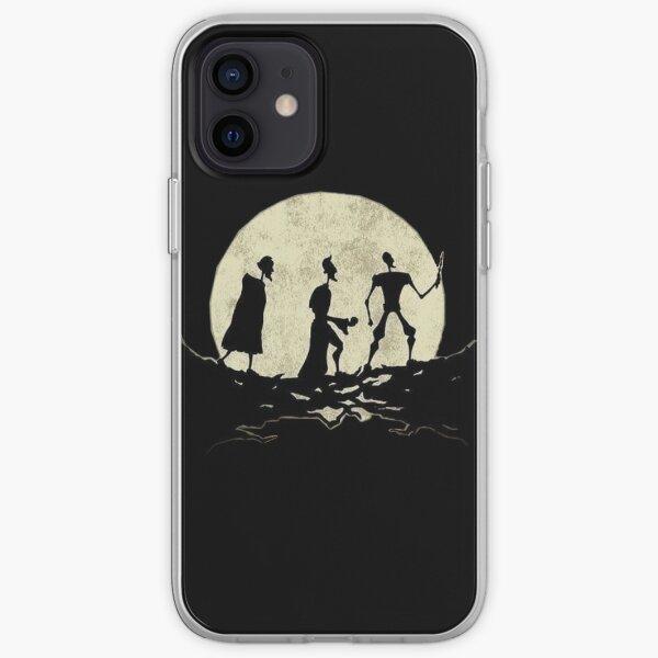 pasos de luna Funda blanda para iPhone