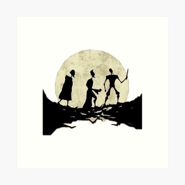 pasos de luna Lámina artística