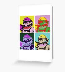 Wario Warhol Greeting Card