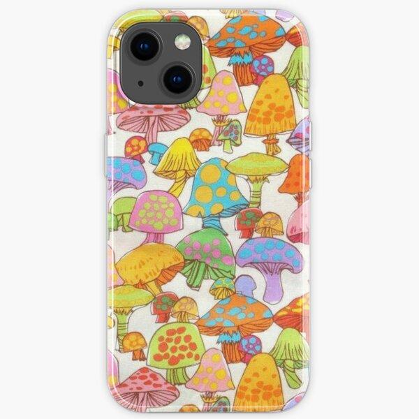Colourful mushroom phonecase  iPhone Soft Case