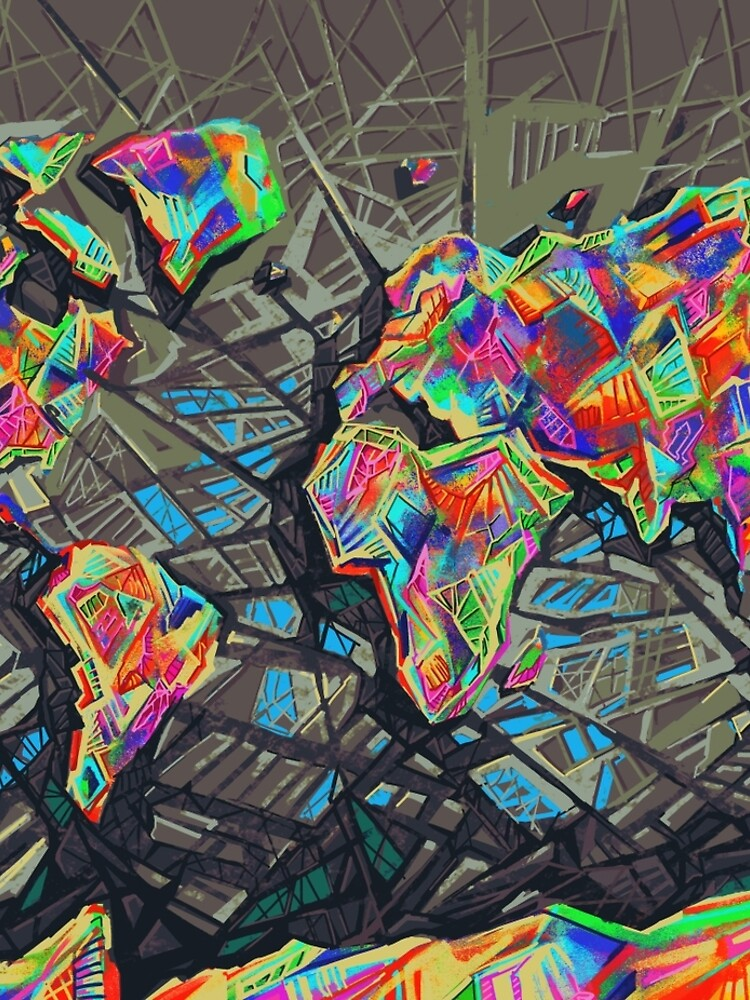 Weltkarte abstrakt von BekimART