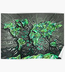 world map abstract 3 Poster
