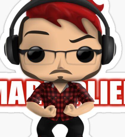 Markiplier Pop! Vinyl Design (Red w/ Headphones) Sticker
