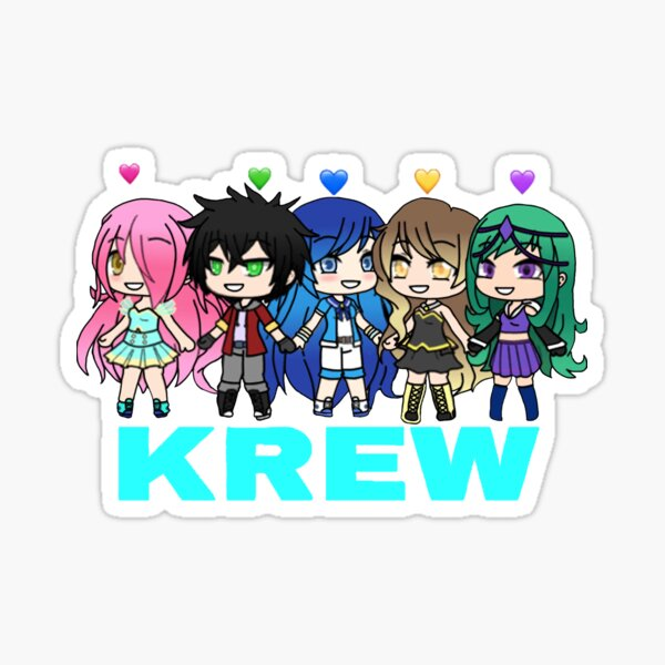 Funneh And The Krew Family Blue Sticker