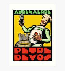 1930er Jahre Audenaerde Petre-Devos Belgisches Bier Werbung Retro-Stil Kunstdruck