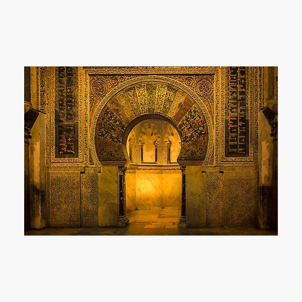 Glowing Arch - Mezquita-Catedral de Córdoba  Photographic Print