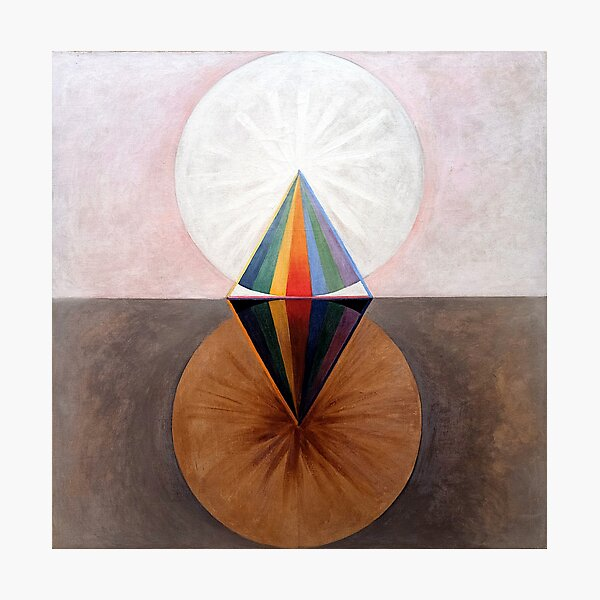 Enhanced, High Res. Hilma af Klint, The Swan No.12 (1915) Photographic Print