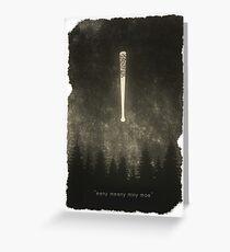 """The Walking Dead - """"Eeny Meeny Mine Moe"""" Greeting Card"""