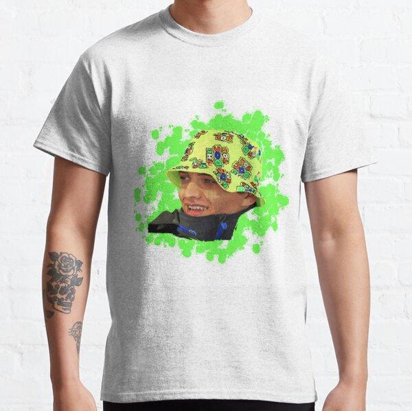 Lando Norris con sombrero Valentino Rossi Camiseta clásica