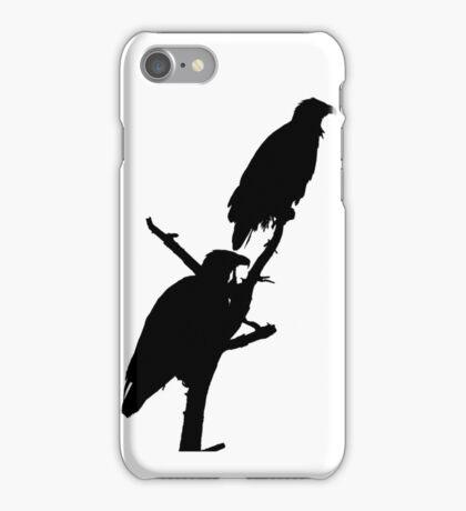 eagle pair silhouette iPhone Case/Skin