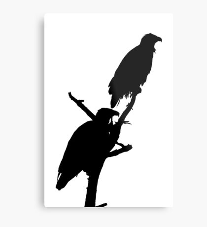 eagle pair silhouette Metal Print