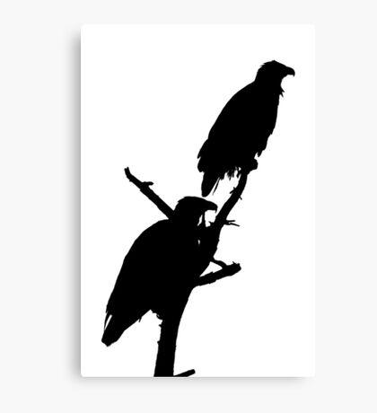 eagle pair silhouette Canvas Print