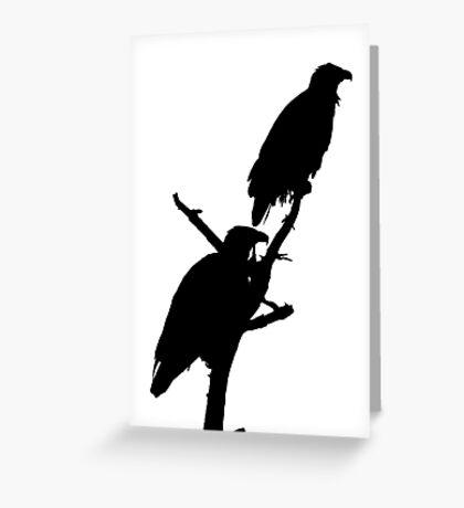 eagle pair silhouette Greeting Card