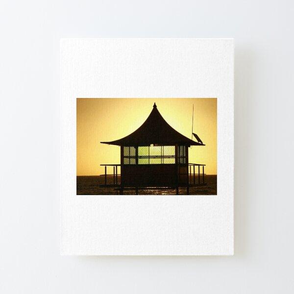 Beach Sunset Canvas Mounted Print