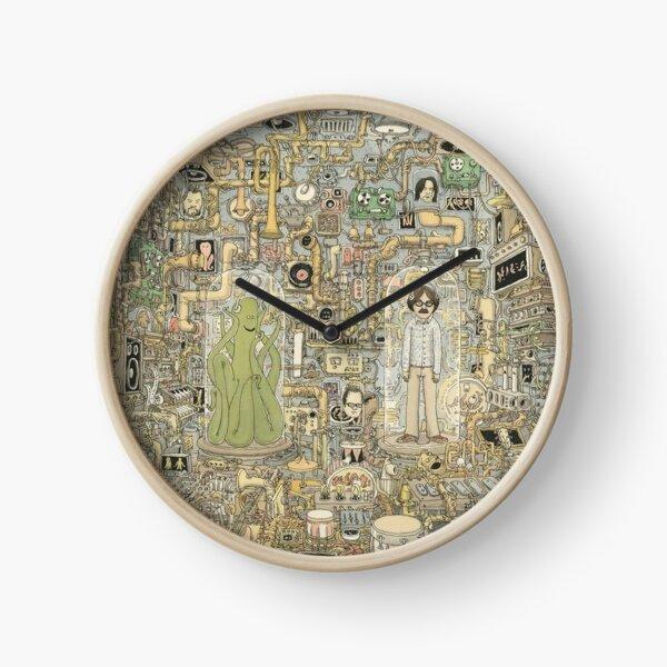 Poulpe et chambre humaine Horloge