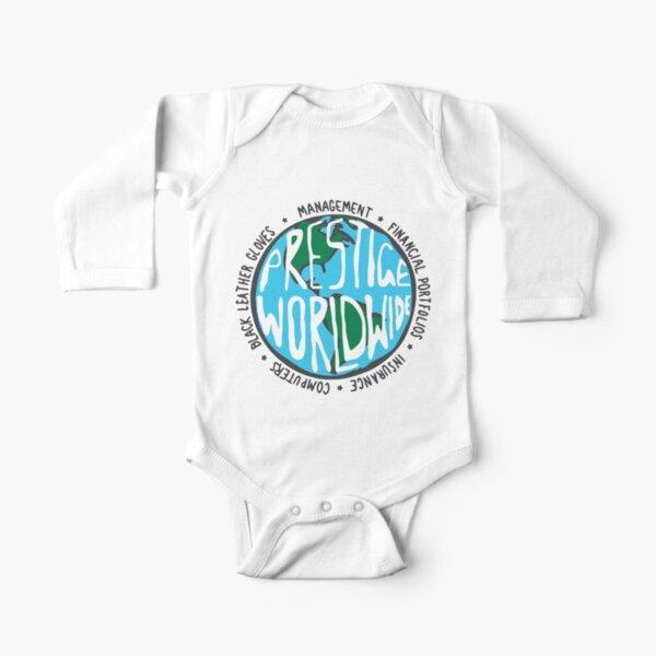 Prestige Worldwide - White Long Sleeve Baby One-Piece