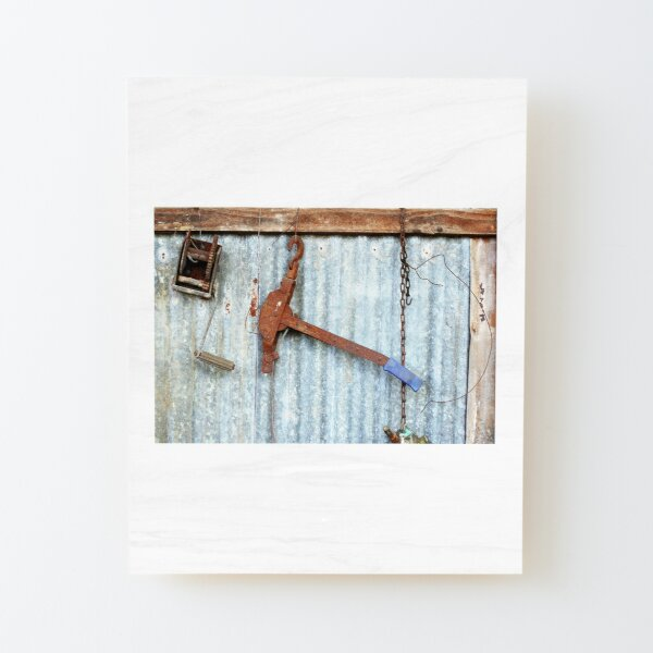 Fence Strainer Wood Mounted Print