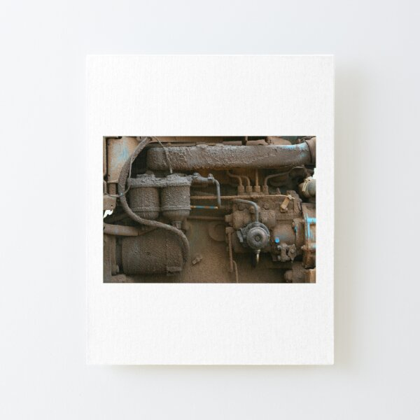 Grease and Grime Canvas Mounted Print