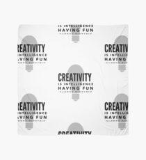 Albert Einstein Creativity Quote Scarf