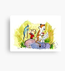 Adventure with Calvin & Hobbes Canvas Print