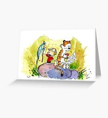 Adventure with Calvin & Hobbes Greeting Card