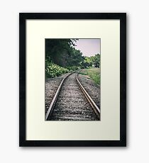 Country Railroad Track Framed Print