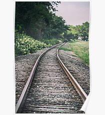 Country Railroad Track Poster