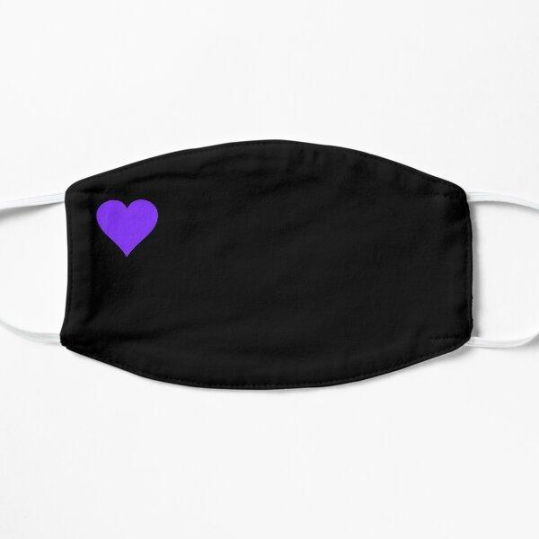 Heart purple / black Flat Mask