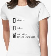 Mentally Dating Jungkook - BTS Women's Fitted T-Shirt