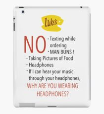 Gilmore Girls: A Year in the life - Luke's Diner new Rules 2016 iPad Case/Skin