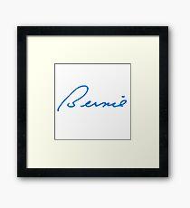 Bernie Autograph Framed Print