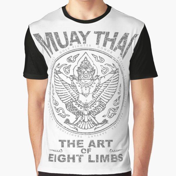 muay thai garuda sacred spirit of thailand the art of eight limbs Graphic T-Shirt