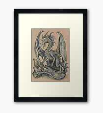Awesome Dragon Drawing  Framed Print