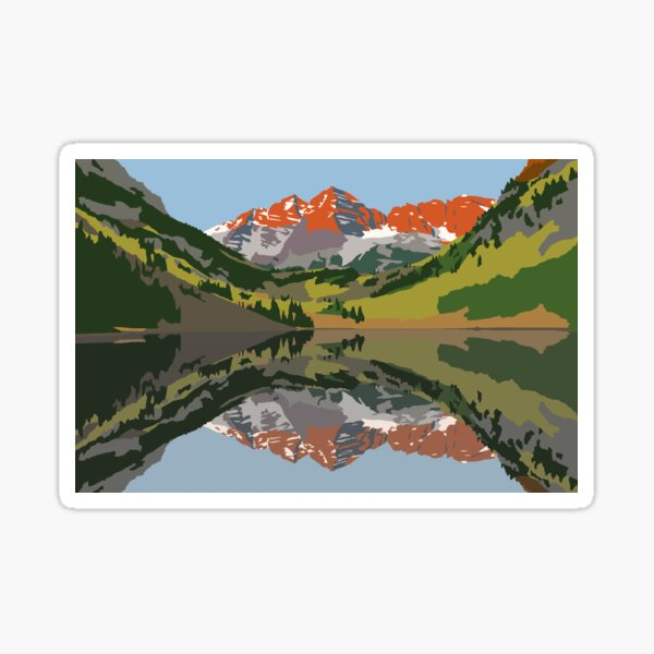 Stickers with mountain motif of bells