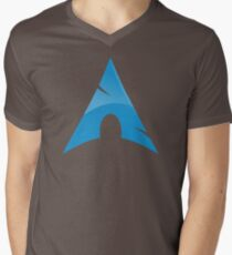 Arch Linux Logo Men's V-Neck T-Shirt