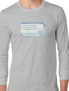this person stopped working Long Sleeve T-Shirt