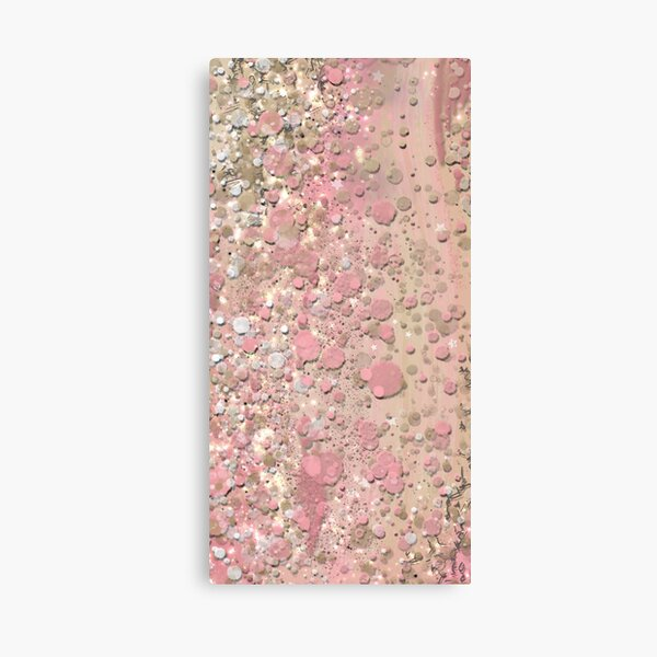Abstract Painting 013021.1, Blush Pink  Canvas Print