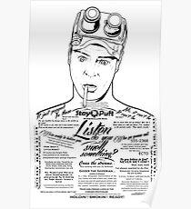Dan Aykroyd Tattooed Ghostbuster Ray Stantz Poster