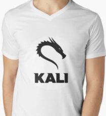 Kali GNU + Linux Logo Mens V-Neck T-Shirt