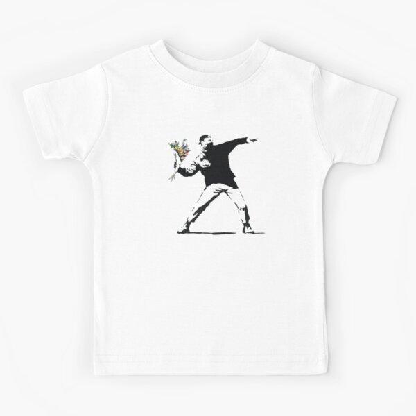 Flower man - Street art Kids T-Shirt