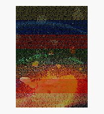 Radiohead - In Rainbows Album Lyrics Design #1 Photographic Print