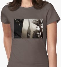 Tom Ford Menswear Shop in Vegas  2 - Black and White 2 Women's Fitted T-Shirt