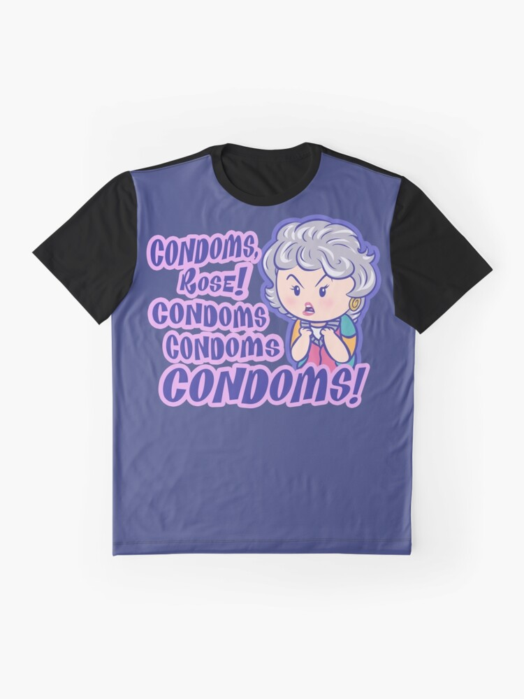 Vista alternativa de Camiseta gráfica CONDONES, Rose!