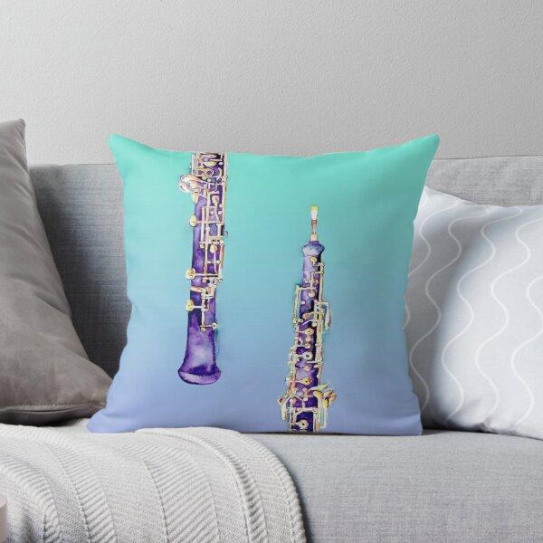 Oboe Illustration by Jamie Hansen Throw Pillow