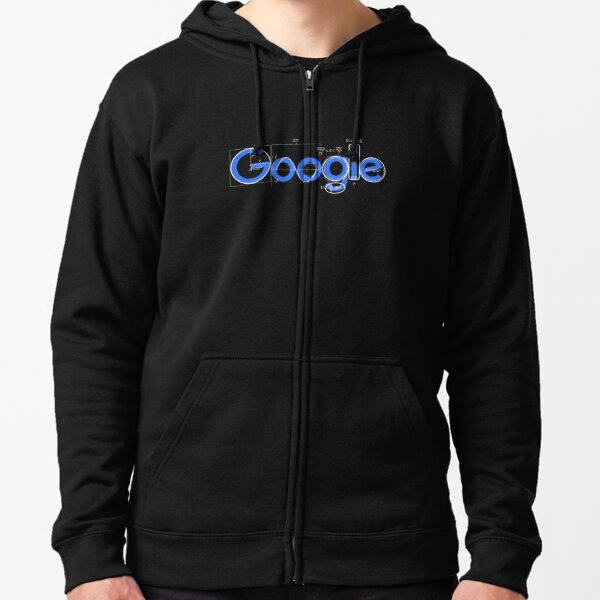 Logotipo de la camiseta de Google Sudadera con capucha y cremallera