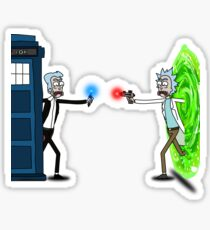 RICKTIONS IN TIME AND SPACE Sticker